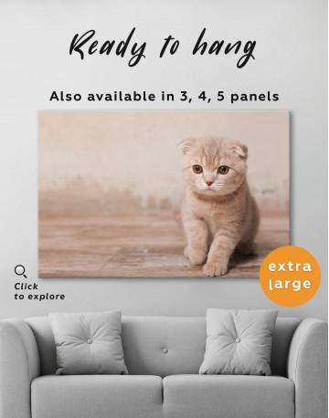 Tan Scottish Fold Kitten Canvas Wall Art - image 7