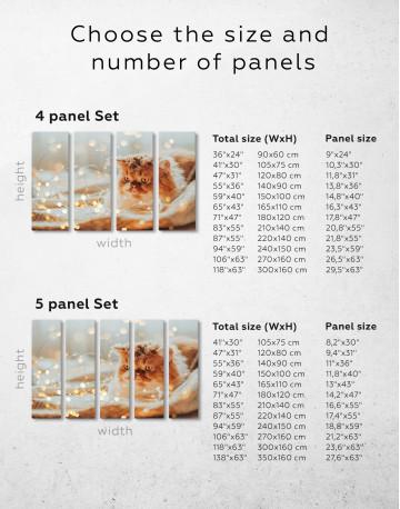 Christmas Light Cat Canvas Wall Art - image 8
