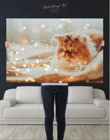 Christmas Light Cat Canvas Wall Art - image 9