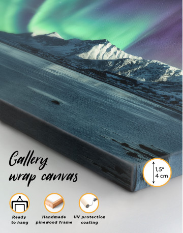 Lofoten Islands Mountains Aurora Borealis Canvas Wall Art - image 8