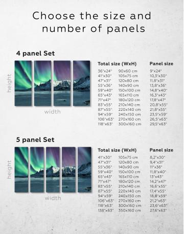 Lofoten Islands Mountains Aurora Borealis Canvas Wall Art - image 7