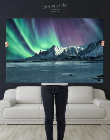 Lofoten Islands Mountains Aurora Borealis Canvas Wall Art - image 9
