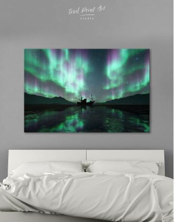 Aurora Borealis Landscape Canvas Wall Art
