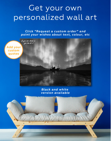 Aurora Borealis Landscape Canvas Wall Art - image 4