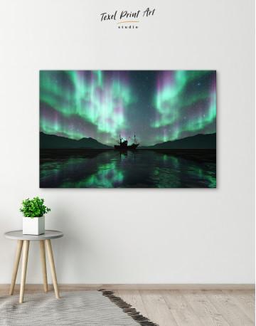 Aurora Borealis Landscape Canvas Wall Art - image 5