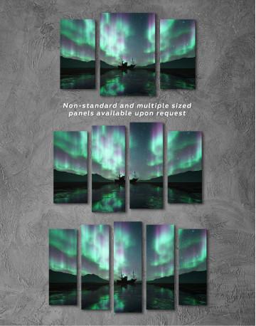 Aurora Borealis Landscape Canvas Wall Art - image 6