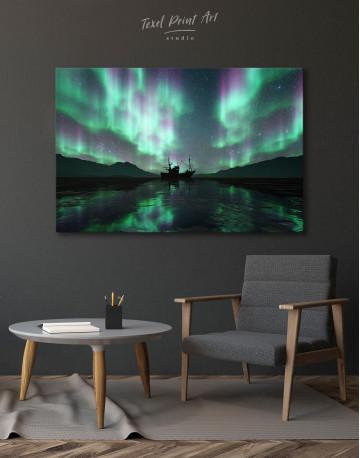 Aurora Borealis Landscape Canvas Wall Art - image 7