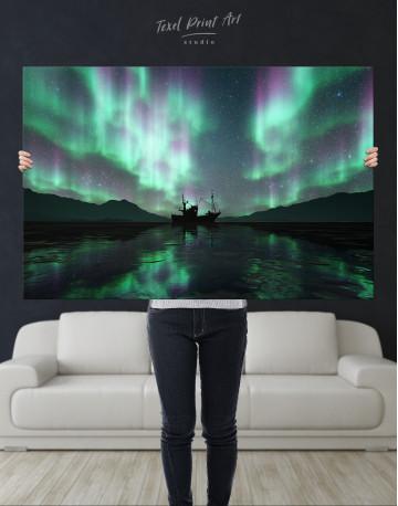 Aurora Borealis Landscape Canvas Wall Art - image 1