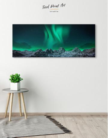 Panoramic Aurora Borealis Mountains Canvas Wall Art - image 4