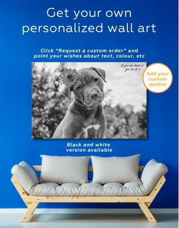 Cute Brown Labrador Puppy Canvas Wall Art - image 6