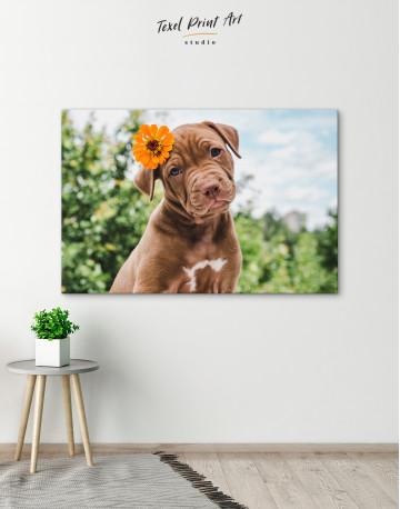 Cute Brown Labrador Puppy Canvas Wall Art - image 5