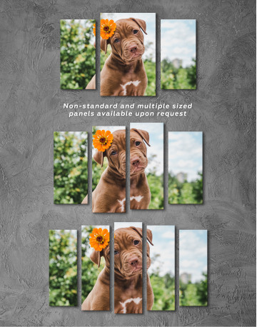 Cute Brown Labrador Puppy Canvas Wall Art - image 4