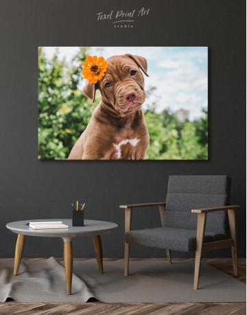 Cute Brown Labrador Puppy Canvas Wall Art - image 3