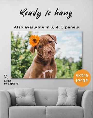 Cute Brown Labrador Puppy Canvas Wall Art - image 2