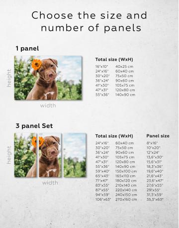 Cute Brown Labrador Puppy Canvas Wall Art - image 1