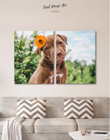 Cute Brown Labrador Puppy Canvas Wall Art - image 9