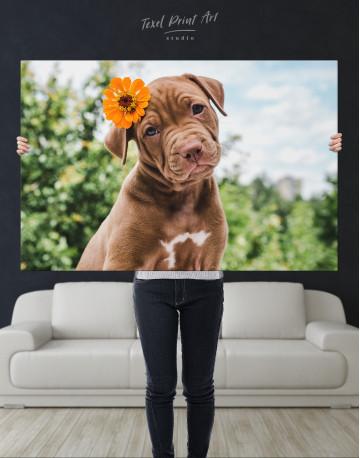 Cute Brown Labrador Puppy Canvas Wall Art - image 8