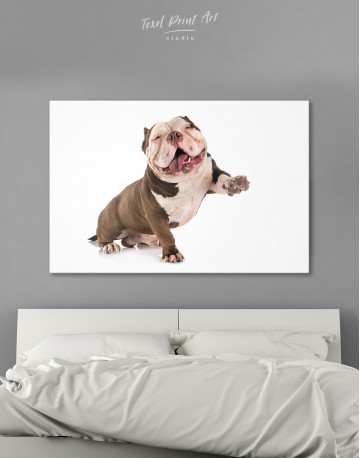 Smiling American Bully Canvas Wall Art