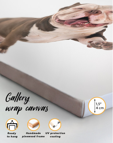 Smiling American Bully Canvas Wall Art - image 3