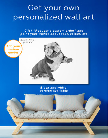 Smiling American Bully Canvas Wall Art - image 4