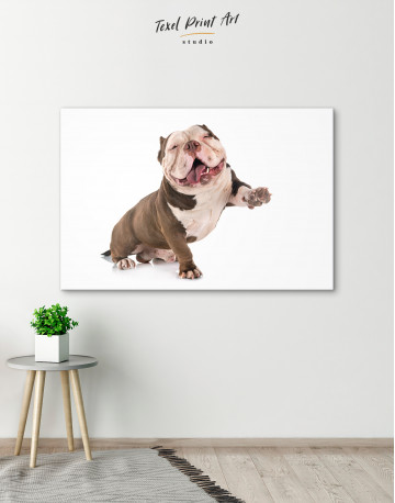 Smiling American Bully Canvas Wall Art - image 5