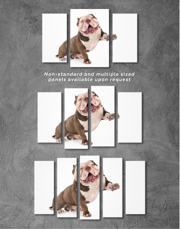 Smiling American Bully Canvas Wall Art - image 6