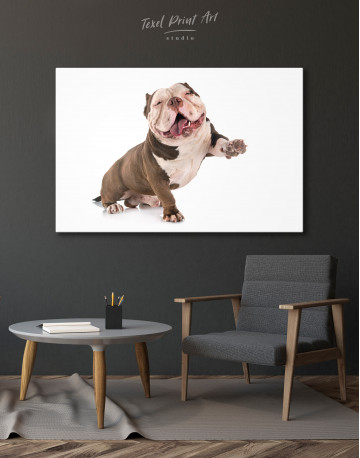 Smiling American Bully Canvas Wall Art - image 7