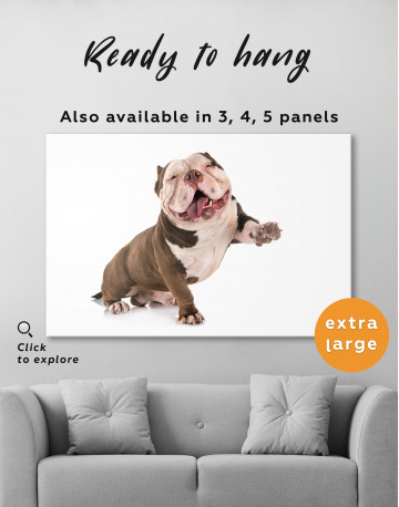 Smiling American Bully Canvas Wall Art - image 8