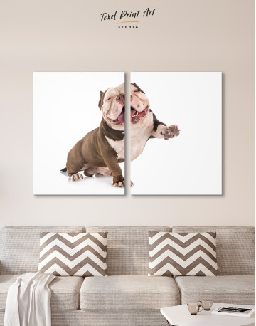 Smiling American Bully Canvas Wall Art - image 2