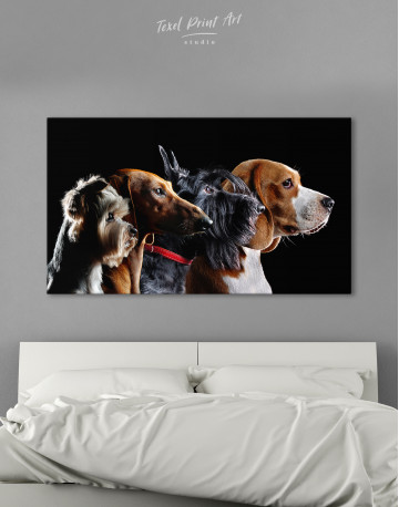 Group Photo of Dogs Canvas Wall Art