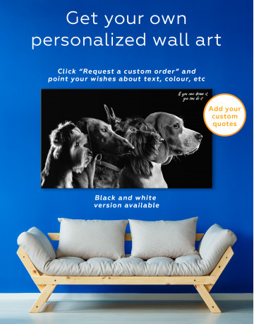 Group Photo of Dogs Canvas Wall Art - image 7