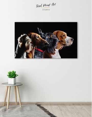 Group Photo of Dogs Canvas Wall Art - image 6