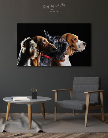 Group Photo of Dogs Canvas Wall Art - image 4