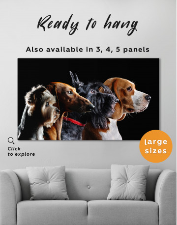 Group Photo of Dogs Canvas Wall Art - image 3