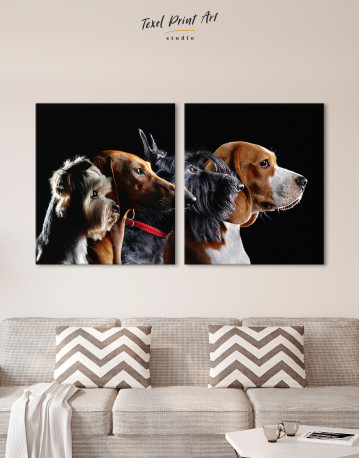 Group Photo of Dogs Canvas Wall Art - image 10