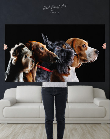 Group Photo of Dogs Canvas Wall Art - image 9