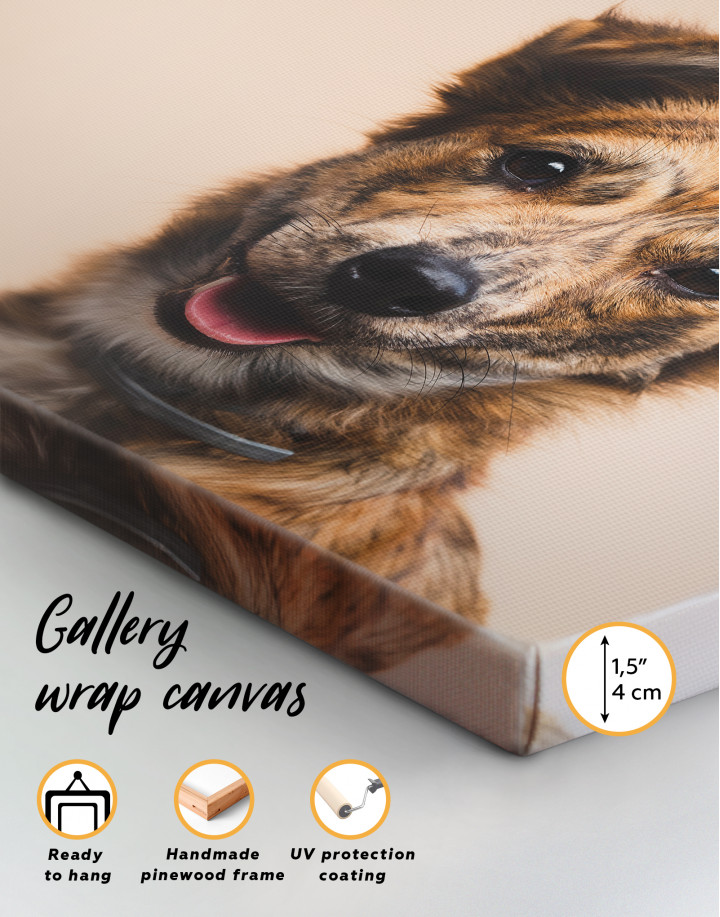 Pretty Dog Canvas Wall Art - Image 2