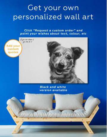 Pretty Dog Canvas Wall Art - image 4