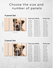 Pretty Dog Canvas Wall Art - Image 1