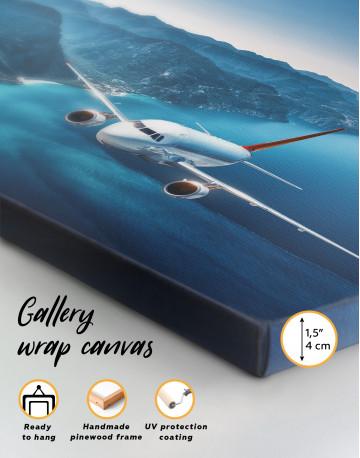 Aeroplane Flying Over Islands Scene Canvas Wall Art - image 6