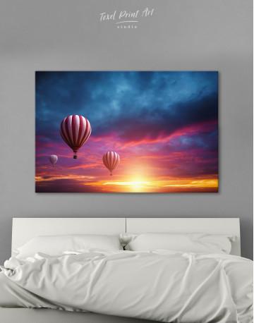 Sunset Sky Hot Air Balloon Canvas Wall Art