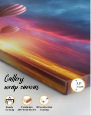 Sunset Sky Hot Air Balloon Canvas Wall Art - Image 6