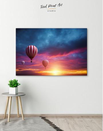 Sunset Sky Hot Air Balloon Canvas Wall Art - image 10