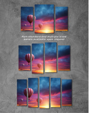 Sunset Sky Hot Air Balloon Canvas Wall Art - Image 8