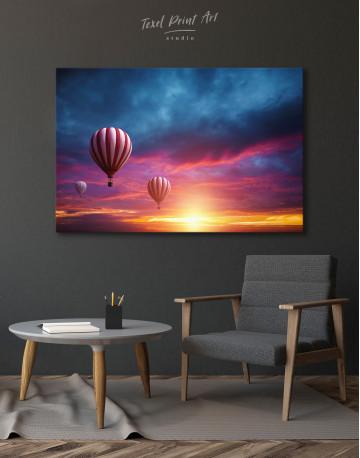 Sunset Sky Hot Air Balloon Canvas Wall Art - image 5
