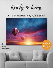 Sunset Sky Hot Air Balloon Canvas Wall Art - Image 4