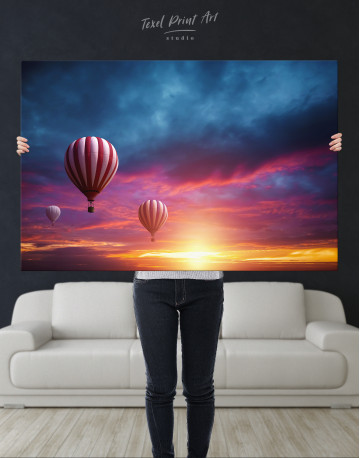 Sunset Sky Hot Air Balloon Canvas Wall Art - image 2