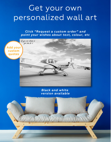 Propeller Airplane Airport Canvas Wall Art - image 7