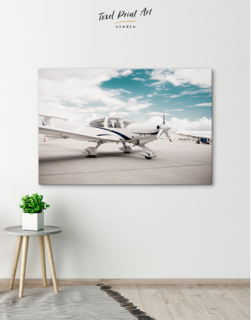 Propeller Airplane Airport Canvas Wall Art - image 6