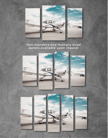 Propeller Airplane Airport Canvas Wall Art - image 5